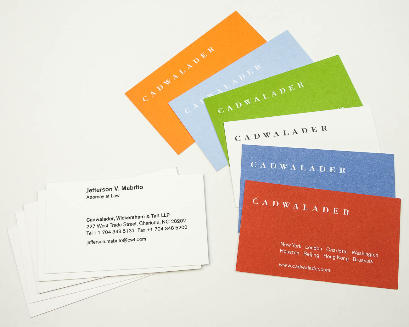 Precise Continental Project Spotlight: Cadwalader Business Cards ...